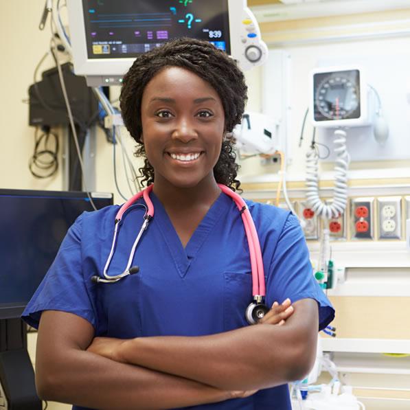 A Sovereign School of Nursing student smiles